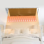 New 1200W Electric Infrared Heater Ceiling Mounted Strip Heating Aluminum Patio Yoga