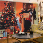 New Christmas Tree Fireplace Pattern Tapestry Wall Art Hanging Tapestries Bedspread Bedroom Decor
