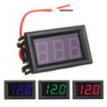 New 0.56 Inch Mini Digital Voltmeter DC 4.5V To 30V Digital Voltmeter Voltage Panel Meter For 6V 12V 24V Electromobile Motorcycle Car