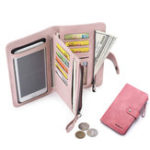 New Women Faux Leather Touch Screen Phone Purse
