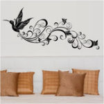 New SK9082 Wall Sticker Birds Silhouette Sitting Room Bedroom Glass Background Decor Removeable Wall Stickers