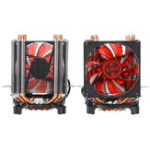 New 3 Pin Four Copper Pipes Red Backlit CPU Cooling Fan for Intel 1155 1156 AMD