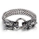 New Silver Dragon Head Cuff Bangle Bracelet