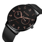 New BIDEN BD0047 Ultra Thin Casual Style Week Display Men Watch