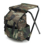 New Outdoor Portable Folding Backpack Chair Foldable Stool Camping Picnic Max Load 100kg