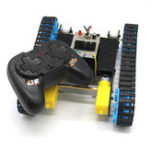 New DIY 2.4G 4CH RC Robot Tank Car Educational Kit