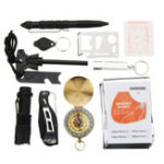 New 10 In 1 SOS Emergency Survival Equipment Kit Gear Tools Outdoor Tactical Hiking Camping