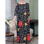 New Elegant Floral Print Dress