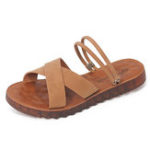New Women Slip On Breathable Beach Rome Casual Flat Sandals