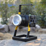 New 4.2V Rotating Focus Portable LED Flood Spot Work Light Camping Lamp Rechargeable