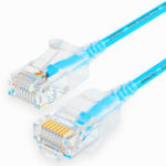 New SAMZHE 0.5~5M 10Gbps Ultrafine CAT6A Blue Ethernet Patch Cable Slim LAN Networking Cable
