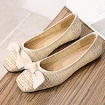 New Women Straw Plaited Breathable Flats Loafers