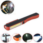 New 3W COB LED Work Light Outdoor Camping Emergency Magnetic Pen Lamp Night Flashlight