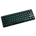New Maibenben QRTECH 61Keys 60% Outemu Blue Switch Mechanical Gaming Keyboard ICE Blue Backlit Type-c Keyboard