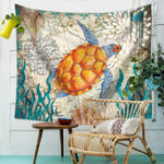 New Sea Turtle Hanging Wall Tapestry Home Decorative Tapete Bedroom Blanket Table Cloth Yoga Mat
