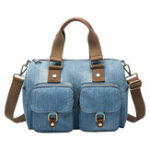 New Women Denim Travel Large Capacity Handbag