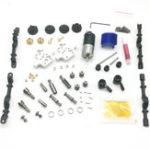 New WPL Metal Black Bridge Axle+Gear Box+Drive Shaft For B14 B24 B24ZH C14 C24 RC Car
