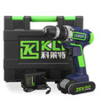 New 26V Electric Cordless Drill LCD Display 15 Torque Double Speed Adjustbale Power Drills W/ Li-Ion Battery Power Adapter