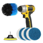 New 8Pcs Electric Drill Brush Grout Power Drills Scrubber Clean Brush Tub Cleaner Tools Kit 2/3.5/4 Inch