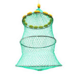 New 14 Floats Fishing Net Folding Floating Keeper Net Bait Cage Tackles