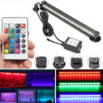 New AC110-120V/220-240V 26CM RGB IP68 Submersible Air Bubble Aquarium Tank 15LED Rigid Strip Light Kit