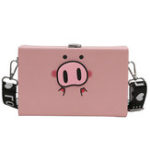 New Women Cute Pig Print Crossbody Bag Casual Shoulder Bag