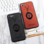New Bakeey Happy Deer Ring Holder Bracket TPU+PU Leather Protective Case For Huawei Honor 10