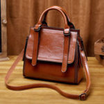 New Women Vintage Solid Leisure Hnadbag