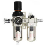 New AC3010-03 3/8 Inch BSP Air Compressor Filter Water Separator With Regulator Gauge