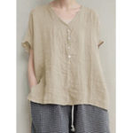 New Women Cotton Solid Color High Low Hem Short Sleeve T-Shirts