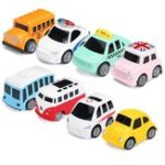 New Nordic Traffic Parking Scene Map Pull Back Mini Toy Car Model Educational Children Cartoon Toys Gifts