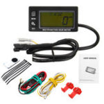 New Waterproof RPM Motorcycle Marine Boat ATV LCD Digital Tachometer Voltmeter Hour Meter