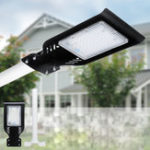 New 50W LED Solar Street Light 4000LUM Super Bright Outdoor Garden Path Road Lamp