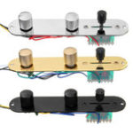 New Telecaster Guitar Panel Direct Control Plate 3 Way Loaded Switch Wiring Harness Knobs Chrome / Gold / Black