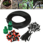 New 30m Micro Drip Irrigation Watering Kit Automatic Garden Plant Greenhouse Water System