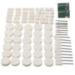 New 90pcs Felt Polishing Buffing Pads Wheel Wool Plastic Dremel Rotary Tool Kit