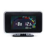 New 12V 24V 2 In 1 LCD Car Digital Gauge Voltage Pressure Water Temperature Meter M10