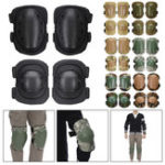 New 4Pcs Motorcycle Tactical Knee Elbow Pad Protective Safety Gear CS Army Military Training