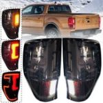 New Car LED Tail Light Pair for FORD Ranger Raptor T6/T7/PX/MK1/MK2/WILDTRAK 2012-2019