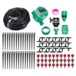 New Micro Drip Irrigation System Water Timing Drip Irrigation DIY Kit for Flower Beds Vegetable Gardens