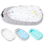 New Cotton Folding Bed Baby Nest Portable Toddler Sleeper Cover Crib Cot Bumper Bed