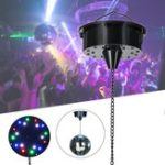 New 18 RGB LED Light Rotating Motor For Mirror Ball Stage KTV Party Sound Activated