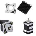 New 53.8*53.8mm NEMA17 Stepper Motor Vibration Shock Absorber Damper with Black Heat Sink for 3D Printer CNC Part