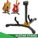 New Folding Metal Guitar Floor Stand Basses Holder Musical Instrument Rack For One
