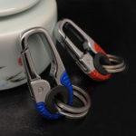 New Stainless Steel Car Key Ring Holder Organiser Chain Heavy Duty Keychain