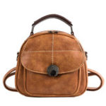 New Women Faux Leather Plaid Outdoor Travel Backpack
