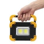 New 20W COB LED Work Light Portable USB Floodlight Lamp Outdoor Camping Emergency Lantern