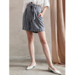 New Stripe High Waist Casual Shorts