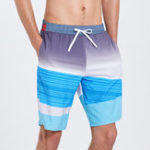 New Knee Length Drawstring Stitching Quick Dry Board Shorts