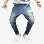 New Mens Fashion Zipper Fly Pocket Design Casual Jeans